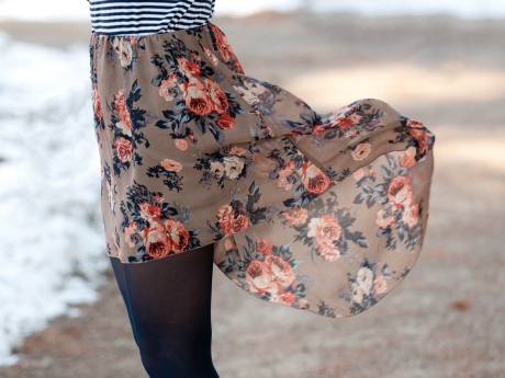 floral stripe five